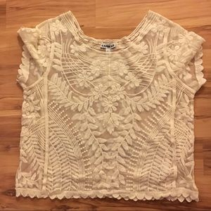 Express lace crop top